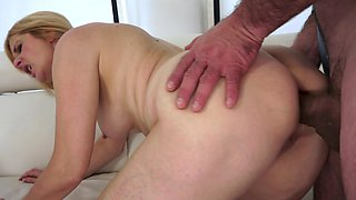 A mature woman is getting fucked in her big and juicy round butt