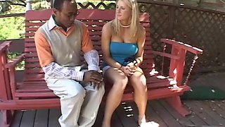 Interracial fuck on the couch with Cassidy Blue