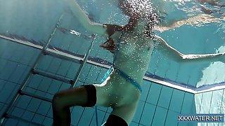 Sexy Hungarian teen in the swimming pool Petra