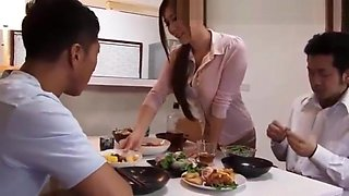 Japanese Wife Fucked By Husband's Friend When He's Sleeping