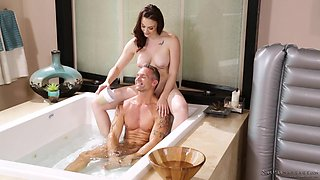 chanel gives oil massage to marcus