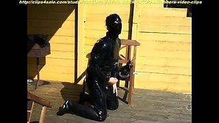 Kinky amateur lovers in latex explore their hardcore fantasy