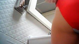 Hidden camera in the ladies toilet