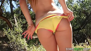 dude fucks 18 y.o. actress wannabe teen lily ford for cash in a forest in pov