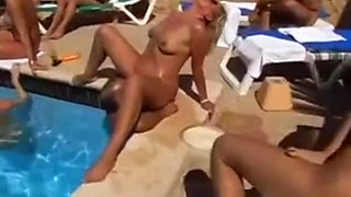 Naked Beach - Public Pool Playing
