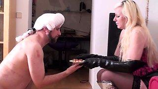 Fetish ladies humiliate slaves