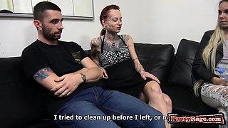 Big tits wife dildo with swap