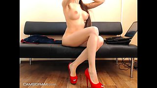 Excited Perfect Body Teen With A Great Body Teasing