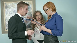 Lauren Philips with fine ass throbbed doggystyle in office ffm