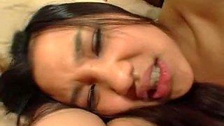 Delicious Asian babe enjoys a teen anal sex