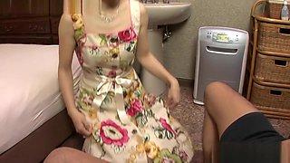 Incredible Japanese model in Horny Bathroom, Blowjob JAV movie