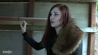 Tied up hooker Stephie Staar gets her pussy punished in the BDSM room