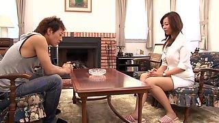 Crazy Japanese girl Kaori in Hottest Cougar, DP/Futa-ana JAV movie