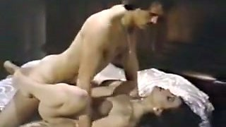Beautiful pale skin brunette fucked in missionary position