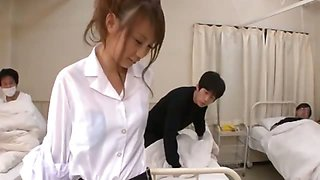All the male patients love sexy nurse Ebihara Arisa and her