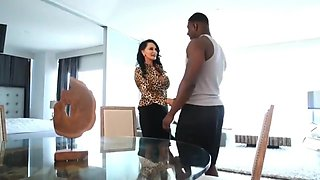 Large-bosomed Mommy Wife Gets Fornicateed By Her Black Boss Big Black Dick