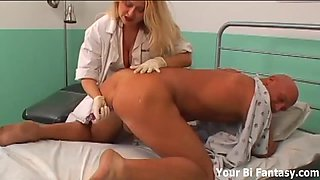 strapon screwed by its cross nurse