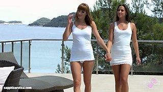 Amirah and Victoria Daniels in lesbian scene by Sapphic Erotica