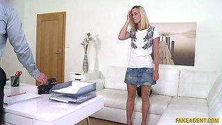 Nela Angel in Skinny Model Fucked on Office Desk - FakeAgent
