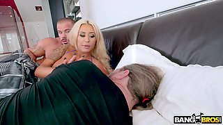 brandi is stretched and railed