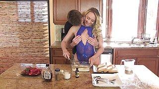 AJ Applegate fucking while cooking