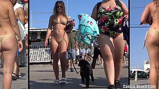 big ass latina bikini cameltoe shaved pussy beach voyeur hd