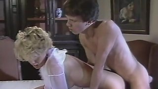 Gail Force have sexual fun in the dinner room