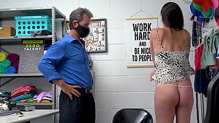 Wild fucking in the office with skinny mature chick Sofie Marie