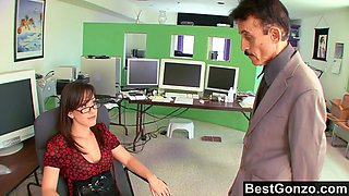 Nymphomaniac Secretary Plowed At The Office