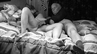 Playing in the bedroom of his daughter
