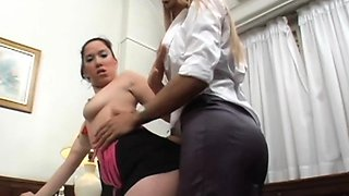 Sheina and Ire - Shemale Boss Fucks Her Bitchy Secretary