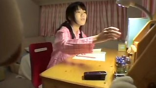 Spy cam video of beautiful Asian slapper doing various naughty stuff