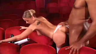 gorgeous blonde young babe cumpletely surrenders herself to a black man's deepest perversions!