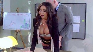 Stephani Moretti Ofice Girl Nailed By Boss