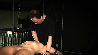 Punished and tormented slave girl cries in bdsm game