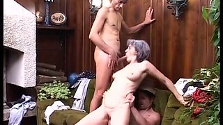 Grey-haired granny gets blasted