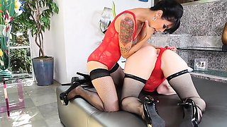 These sexy clad oriental babes are kinky anal freaks who