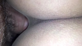 POV fuck trough pantyhose