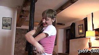 Concupiscent schoolgirl likes her dad