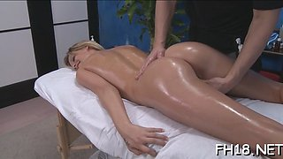 Oiled hottie craves to suck that hulking schlong and get nailed in different poses by this handsome dude