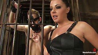 bondage scene with the hot mistress penny