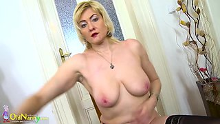 Compilation of mom playing with various toys and extreme insertion