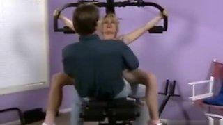 Toned athletic blonde milf Tiffany Million fucked hard during workout