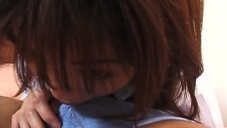 Japanese teen  Momoka in school uniform gets fingered