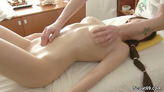 Boy Seduce Young Petite Teen To Fuck In Massage Parlour