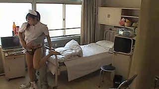 Hard fuck and a creampie for delicious naughty nurse