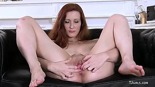Isabella Lui redhead Czech babe gaping