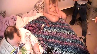 Two kinky mature couples engage in wild group sex on the bed
