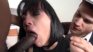 Mya Assfucked Hard by a BBC infront of Her Lover