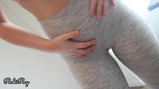 Fuck My Tight Pussy and Creampie in My Ripped Yoga Pants